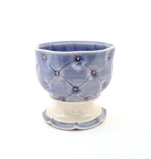 Pedestal Bowl, Porcelain, Gold Luster, Cone 6, 2017