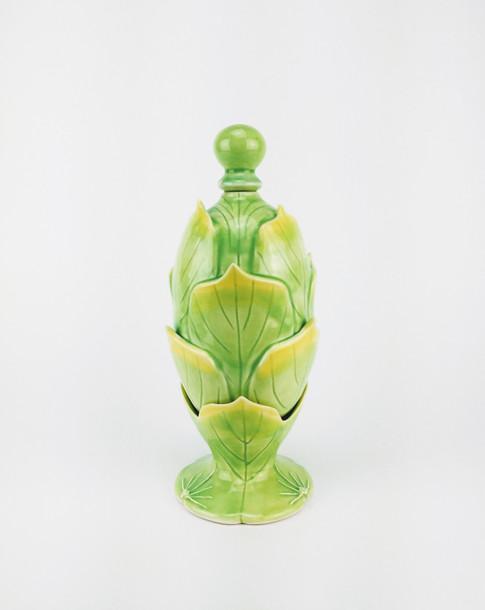 Succour: Gin Decanter,  Porcelain, Cubic Zirconia, Cone 6, 2018