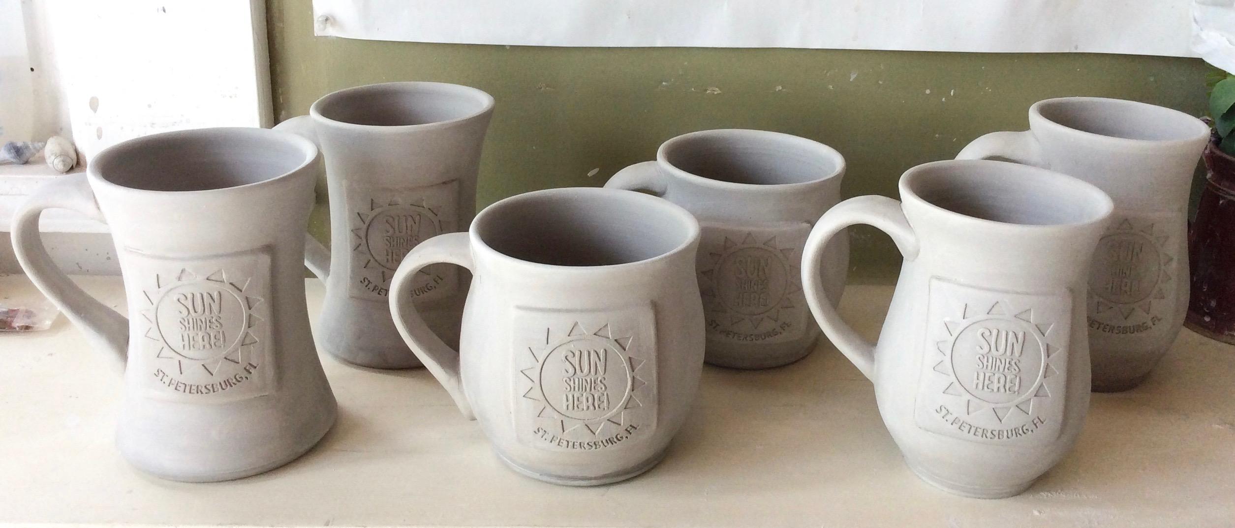 Greenware Mugs