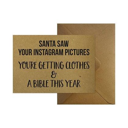 Santa + enveloppe