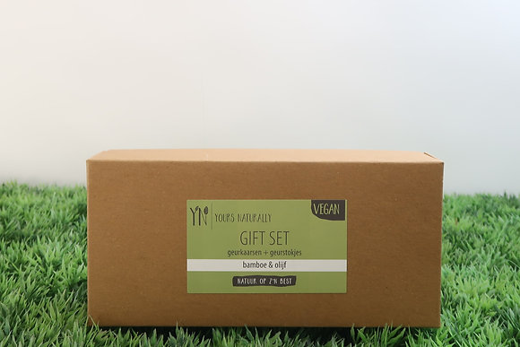 Gift set bamboe & olijf
