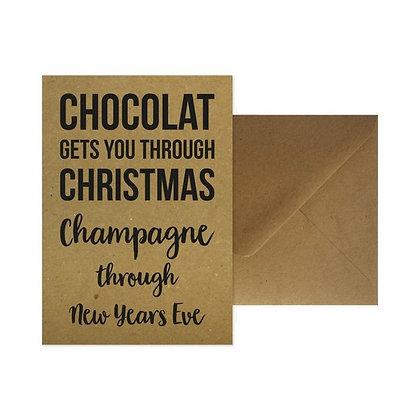 Chocolat + enveloppe