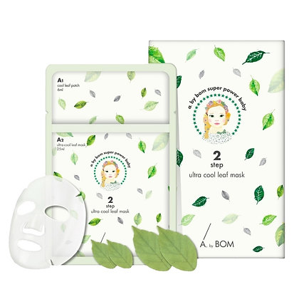 Маска для лица A. by BOM Ultra Cool Leaf Mask 2 в 1