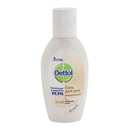 Антисептик Dettol гель для рук антибактериальный увлажняющий 50мл (1 шт.)