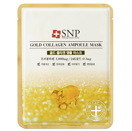 Маска для лица SNP Gold Collagen Ampoule Mask