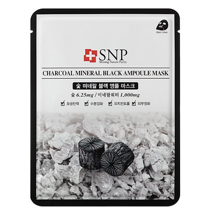 Маска для лица SNP Charcoal Mineral Black Ampoule Mask