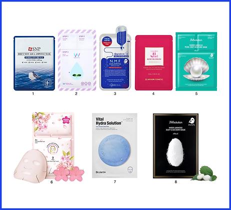 Набор масок №3 для увлажнения кожи (Set 3)