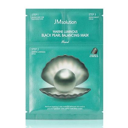 Маска для лица JM Solution Marine Luminous Black Pearl Balancing Mask 3 в 1