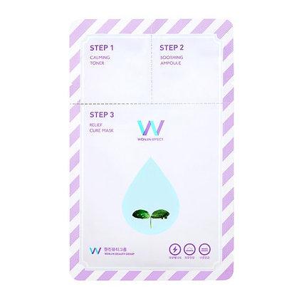 Маска для лица Wonjin Effect Relief Cure 3 в 1 успокаивающая