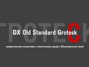 Шрифт Гротеск узкий/DXOldStandardGrotesk