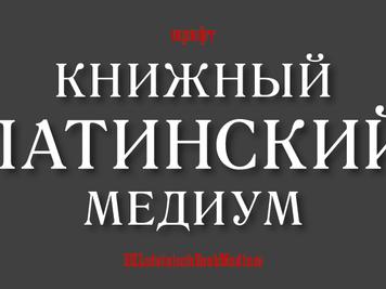 Шрифт Латинский книжный Медиум/LateinischBookMedium
