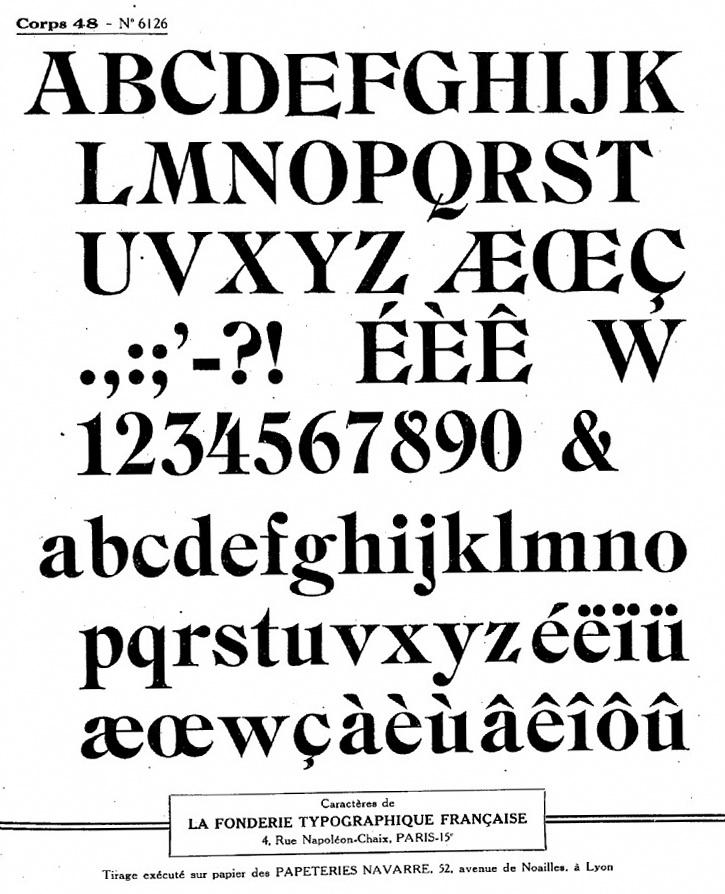 La Fonderie Typographique Francaise