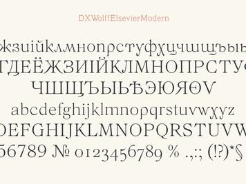 Шрифт DXWolffElsevierModern