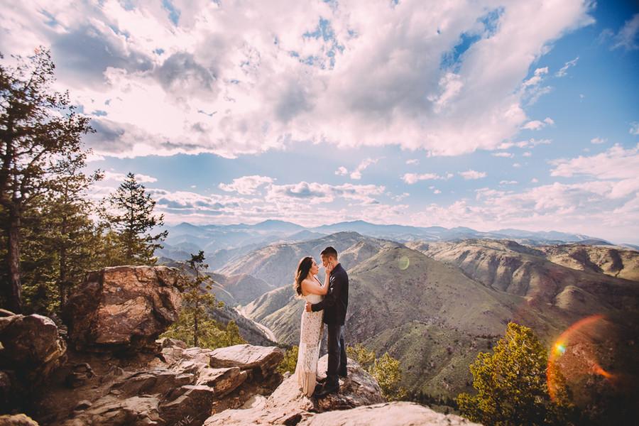 Sabrina + Ivan// Colorado Mountain Engagement
