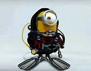 Minion dressed in scuba gear