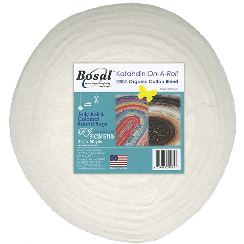 White Katahdin 2.5 in strips by 50 yards (for Jelly Roll Rug Patterns)