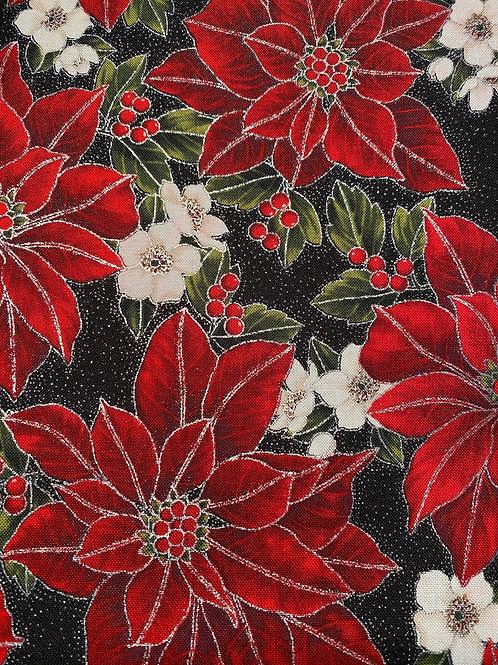 Hoffman Christmas Poinsettia Song - Silver