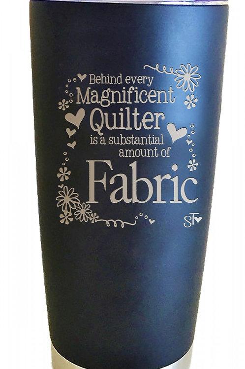 Quilt Fabric Premium Tumbler