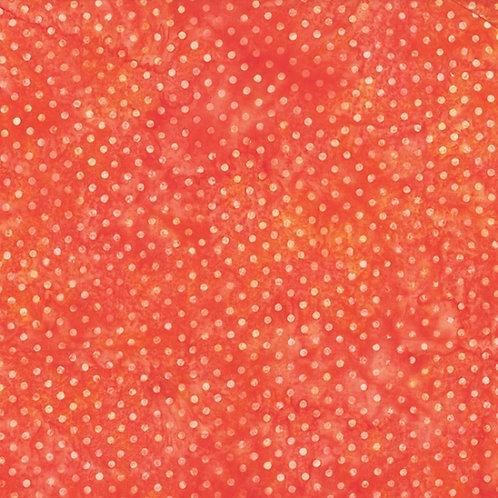 Hoffman Bali Batik Polka Dot Orange 2322 13