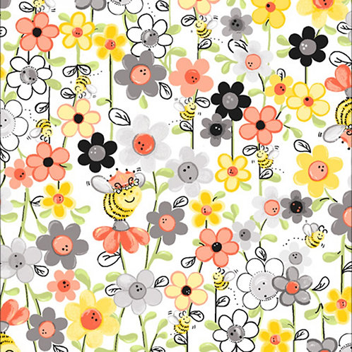 Susybee White Bee Floral