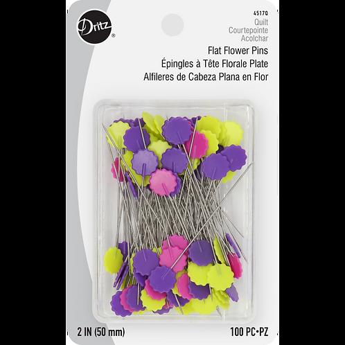 Dritz Flat Flower Pins - 100 Count