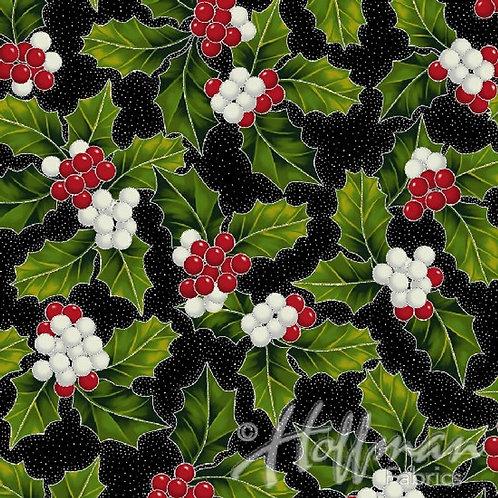 Hoffman Poinsettia Song Black/Silver