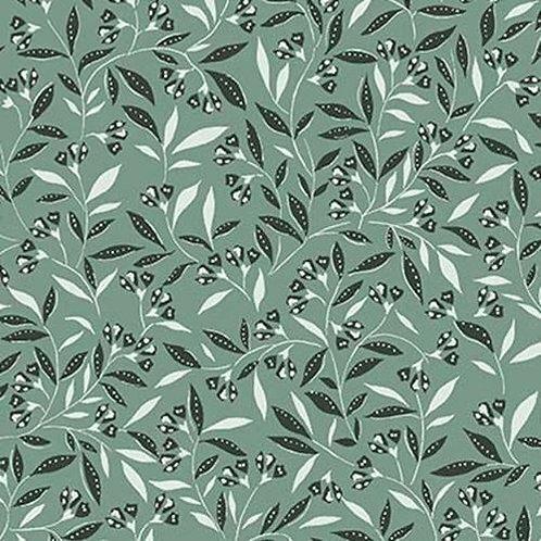 La Florette Wind Blossom Green Fat Quarters
