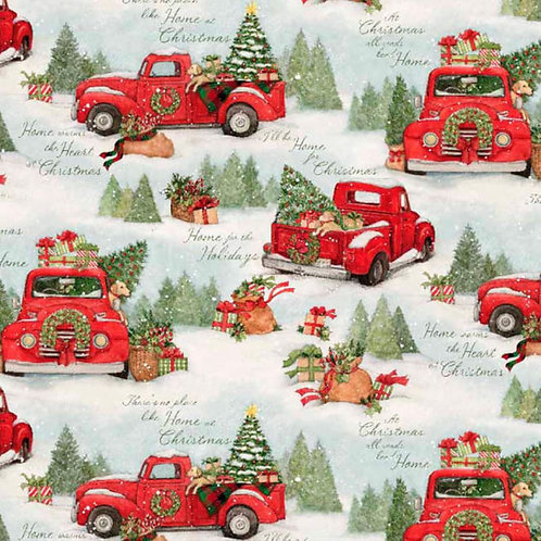 Home for Christmas Scenic Red Truck