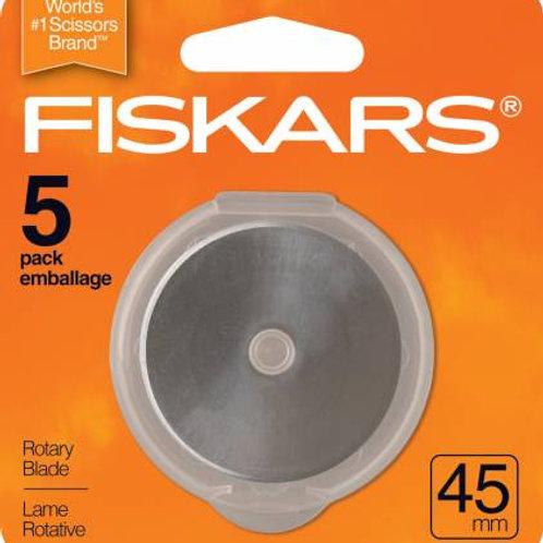 Fiskars 45mm Rotary Blade 5ct