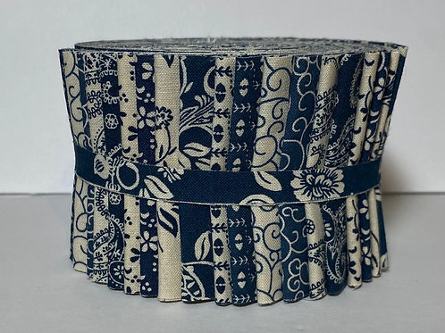 Dark Blue(Country Blue) Jelly Roll 20-2.5 inch Strips