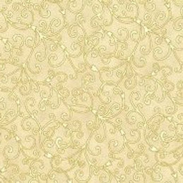 Good Tidings by Hoffman Fabrics- Cream/Gold
