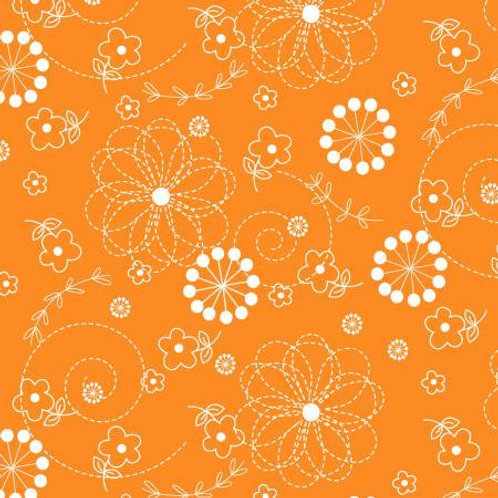 Orange Doodles by Maywood Studio