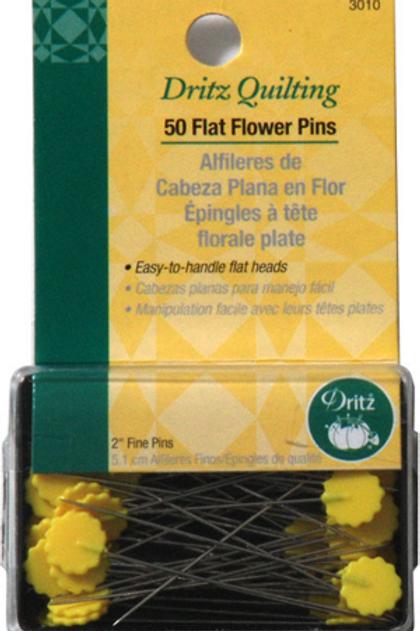 Dritz Flat Flower Pins - 50 count
