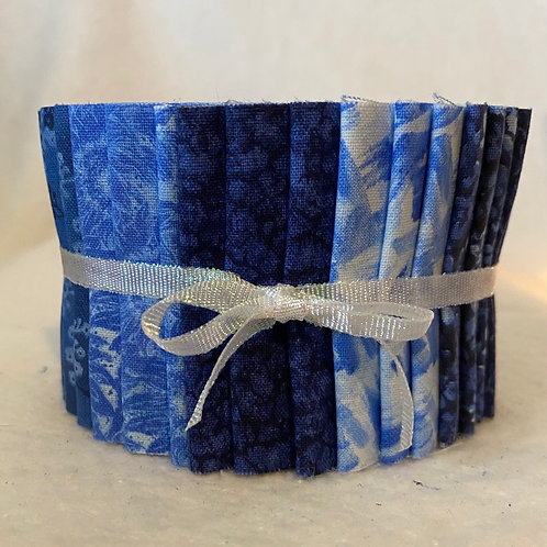 Navy Blue Jelly Roll 18 2.5 in Strips