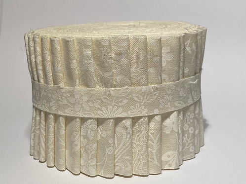 White on Natural Jelly Roll