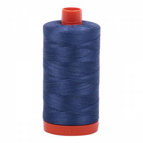 50wt Aurifil Steel Blue 100% Cotton Mako Thread