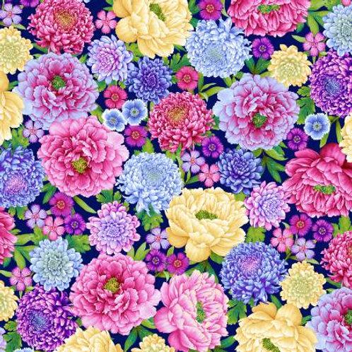 Gossamer Garden Large Floral Yardage