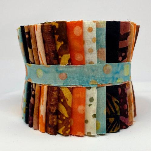 Hoffman Batiks Jelly Roll - 18 Strips