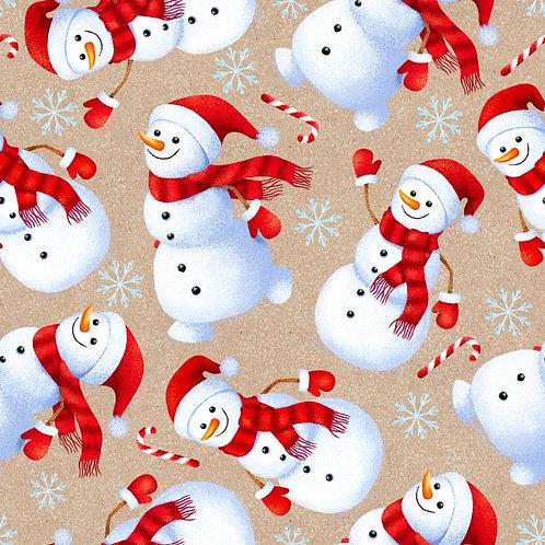 Merry Christmas Cheery Snowmen