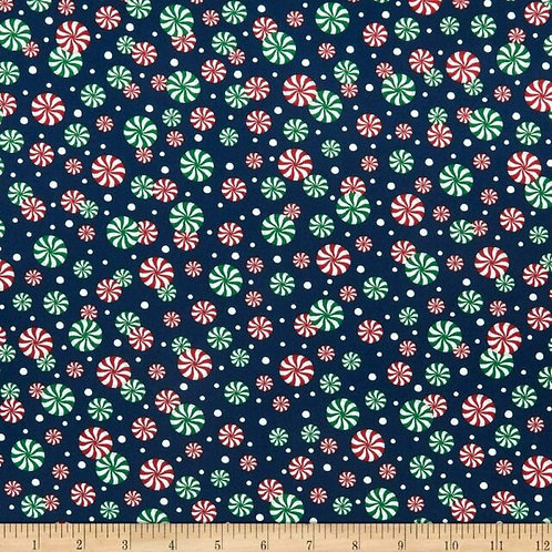 CHRISTMAS PEPPERMINT CANDY FABRIC