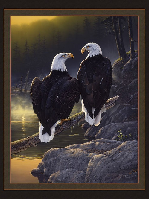 'Dawn's Early Light' Eagle Panel 36""