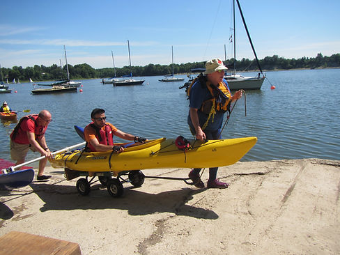 Coming off of Lake Fanshawe, London after a successful paddle