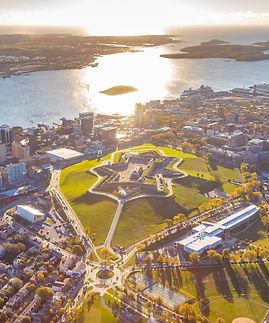 Aerial of Halifax Citadel