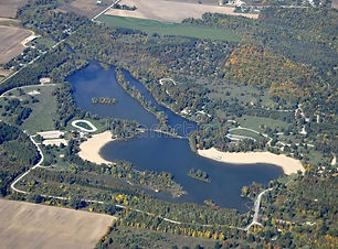 earl-rowe-provincial-park-aerial-autumn-