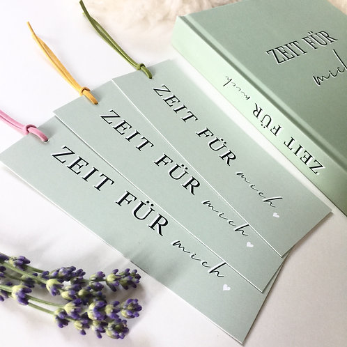 """Lesezeichen """"Zeit für mich"""" (3er Set)"""