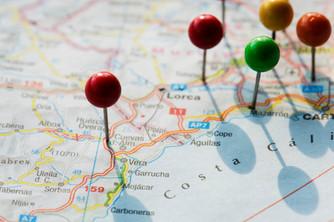 Localización geográfica de empresas comparables