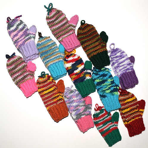Children's Mittens w/ Thumbs - 5 Inches
