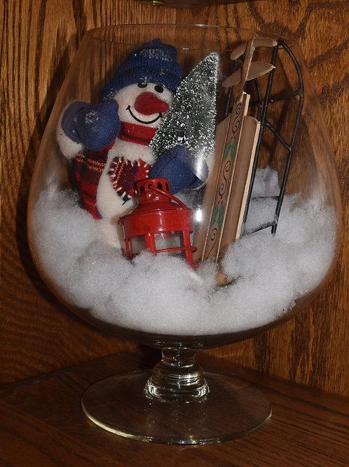 Winter Snowman - Brandy