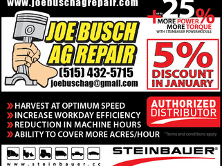 NEW YEAR SPECIAL: 5% OFF Steinbauers in January @ Joe Busch Ag Repair