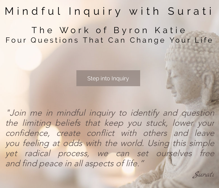 The Work of Byron Katie in Mindful Inquiry with Surati – Byron Katie 4 Questions Worksheet